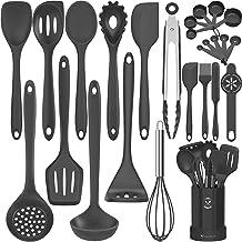 Silicone Cooking Utensils Kitchen Utensil Set-Fungun 26 Pcs 446°F Heat Resistant Tongs Spatula Spoon Kitchen Utensils Set ...