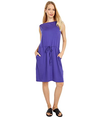 Eileen Fisher Bateau Neck Knee Length Dress w/ Pockets (Athena) Women