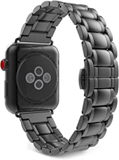 MoKo Compatible Band Replacement for Apple Watch 42mm 44mm Series 5/4/3/2/1, Stainless Steel Metal Replacement Smart Watch Strap Bracelet - Space Gray(Not Fit iWatch 38mm 40mm)
