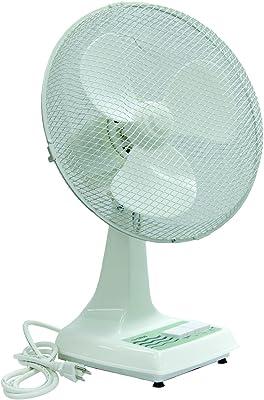 """TPI ODF-12 Oscillating Office Fan, 12"""" Blade Diameter, Gray"""