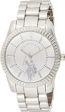 U.S. Polo Assn. Women's Analog-Quartz Watch with Alloy Strap, Silver, 8 (Model: USC40264AZ)