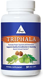 Isha Organic Triphala Capsules - Promotes Digestion and Elimination, Supports Detoxification and Cleansing, Boosts Immunity - Natural Supplement, 500 mg ea (90 Veg caps)