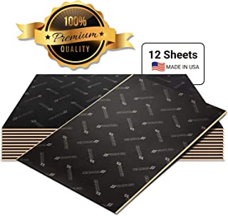 Second Skin Damplifier Pro Premium Car Sound Deadening Material (80mil) – Butyl Rubber Auto Sound Deadener Mat (20 Sq Ft, 12 Sheets) – Made in The USA