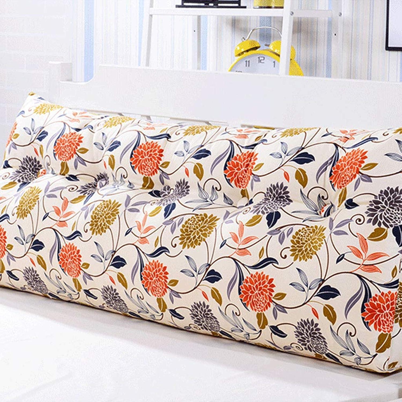 Le grand coussin de double oreiller de triangle arrière peut être le grand lit de coussin lavable (Couleur   B, taille   1m)