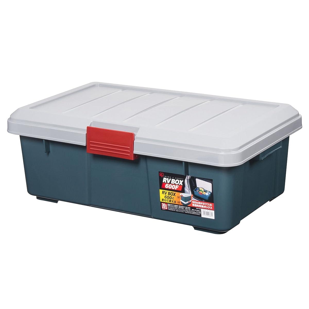 宅配便画像バイオレットアイリスオーヤマ ボックス RVBOX 600F グレー/ダークグリーン 幅60×奥行37.2×高さ22cm