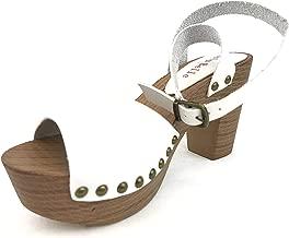 AMS Women's Adjustable Buckles Chunky Heeled Platform Sandals Summer Dress High Heels Shoes
