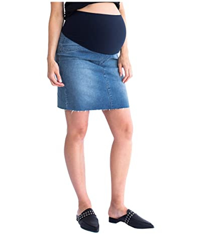 Angel Maternity Maternity Denim Skirt (Blue) Women
