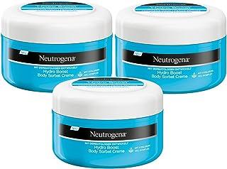 Neutrogena 露得清 Hydro Boost 水活盈透系列 深层保湿露 – 清新、轻盈和丝质般的保湿润肤霜 – 3 × 200 毫升
