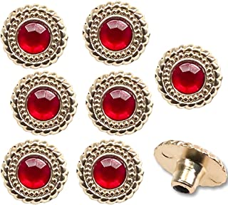 Figures Toy Company Set of 8 Replacement Ruby Rivets for WWE World Heavyweight Championship Adult Size Replica Belt
