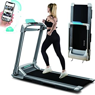 OVICX Q2S Folding Portable Treadmill Compact Walking Running Machine for Home Gym Workout Electric Foldable Treadmills wit...