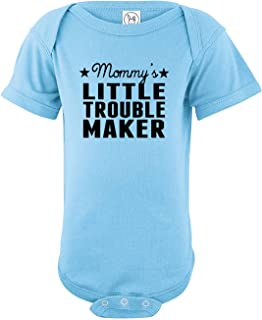 Mommy's Little Trouble Maker Newborn Baby Cute Humor Infant Bodysuit - Funny Rompers Outfits