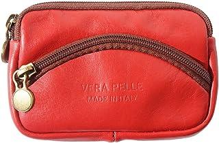 Florence Leather Market PM335, Portafogli Donna Rosso e Marrone
