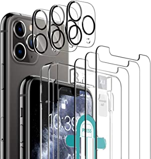 [6 Pack] LK 3 Pack Screen Protector for iPhone 11 Pro + 3 Pack Camera Lens Protector Anti-Scratch (Easy-Installation Tool)...