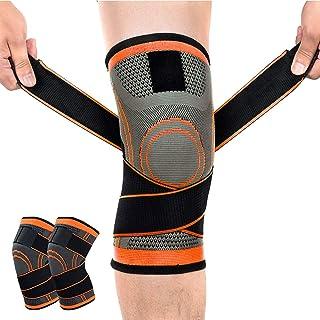膝サポーター Zaro 加圧式 スポーツサポーター 膝 固定 関節 靭帯 サポート 通気性 伸縮性 登山 ランニング などに適用 2枚入り 男女兼用