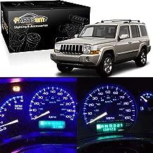 Partsam Speedometer Indicator LED Light Package Instrument Panel Gauge Cluster Dashboard LED Light Bulbs Compatible with Jeep Wrangler 1997-2006 -Blue