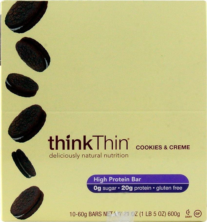 きちんとしたグレートバリアリーフオープニングTHINK THIN社 シンクシンバー クッキー&クリーム 10本