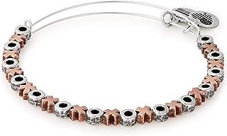 Alex and Ani Women's XO Beaded Two-Tone Bangle Bracelet