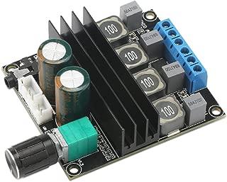 Digital Amplifier Board, DROK HiFi Dual Channel Stereo Audio Amplifier DC10-25V Digital 2.0 Power Amp Board 50W+50W Output with Volume Adjustment Knob
