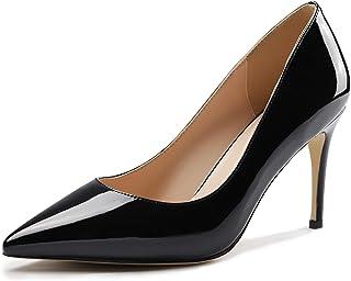 أحذية حريمي عالية الكعب من Comihigh بمقدمة مدببة وكعب مدبب 8.5 سم مصنوعة يدويًا بكعب مريح