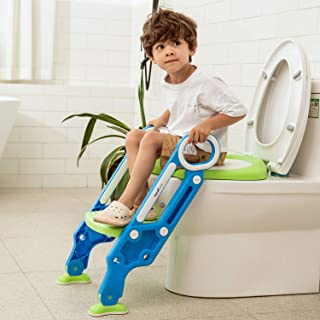 Potty Training Toilet Seat with Step Stool Ladder for Boys and Girls Baby Toddler Kid Children Toilet Training Seat Chair ...