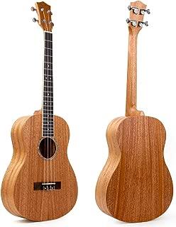 Baritone Ukulele 30 Inch Ukelele Uke 4 String Guitar With Ukele Picks Strap Tuner G-C-E-A String (Mahogany Body - Only Ukelele)