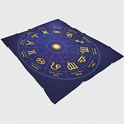 YOLIYANA Blanket Bedspread Soft Fleece Throw Blanket/39x49 inches/Astrology,Horoscope Zodiac Signs