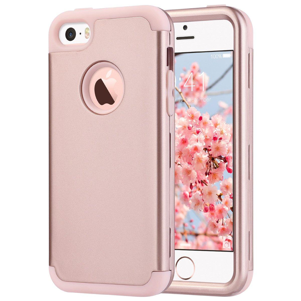 protective iphone se case amazon co ukulak iphone 5s case, iphone se case hybrid heavy duty shockproof full body protective