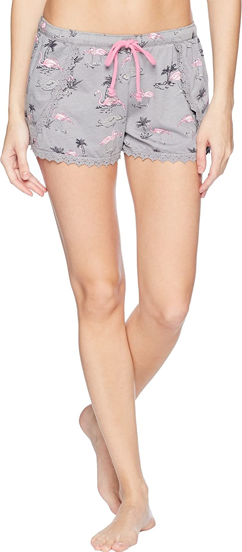P.J. Salvage Womens Playful Prints Flamingo Shorts