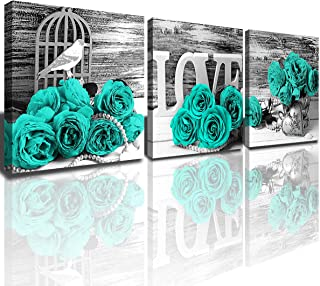 Bedroom Decor Teal Bathroom Pictures Wall Art Couples...