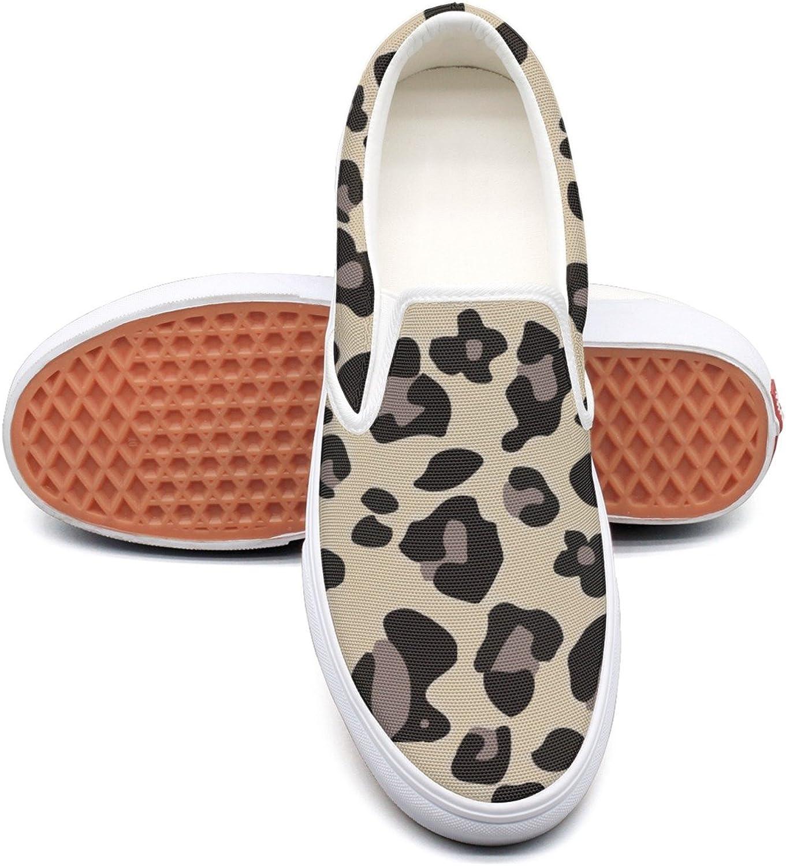 RegiDreae Canvas Slip On Sneakers for Women Animal Paw Pattern Fashion Sneaker
