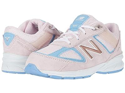 New Balance Kids 990v5 (Infant/Toddler) (Cherry Blossom/Team Carolina Blue) Girls Shoes