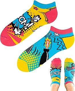 TODO Colours - Calcetines deportivos con diseño de rayo Explosion LOW divertidos Bombe Boom para hombre y mujer, multicolor