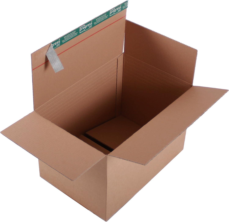 ProgressBOX K20.07-3 Transportkarton Premium 2-wellig mit SK-Verschluss und Aufreißfaden DIN A3, 460 x 310 x 300-210 mm, 10er Pack, braun B00LQKNWD0    | Verschiedene Arten und Stile