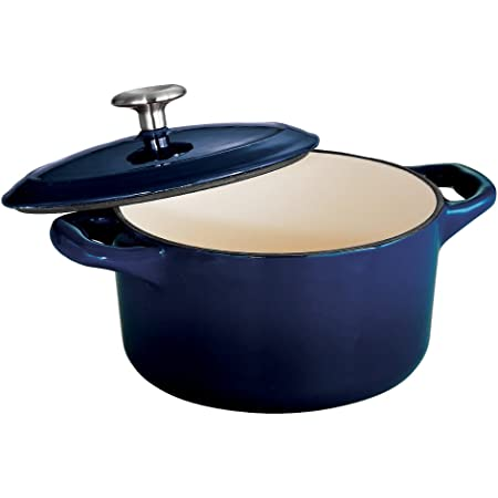 Tramontina Covered Small Cocotte Enameled Cast Iron 24-Ounce, Gradated Cobalt, 80131/073DS