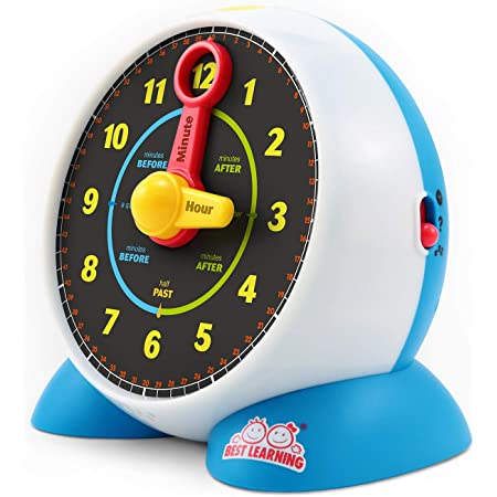 BEST LEARNING Learning Clock - Educational Talking Learn to Tell Time Light-Up Toy with Quiz and Sleep Mode Lullaby Music for Toddlers & Kids Ages 3 to 6 Years Old