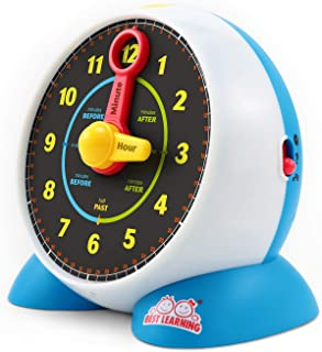 BEST LEARNING Learning Clock - Educational Talking Learn to Tell Time Light-Up Toy with Quiz and Sleep Mode Lullaby Music ...
