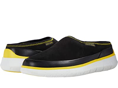 Cole Haan Generation Zerogrand Dweller Shearling Slipper (Black) Men