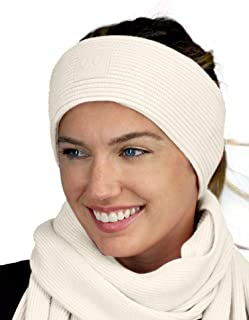 C.C Unisex Winter Thick Ribbed Knit Stretchy Plain Ear Warmer Headband