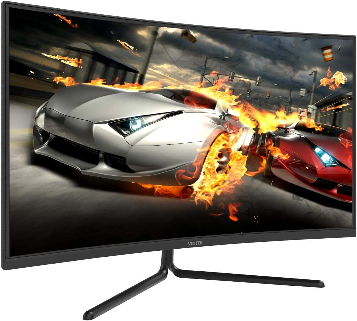 VIOTEK GN32DB 32-Inch Curved Gaming Monitor with FreeSync