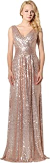 Belle House Women's Sequins Ball Evening Prom Gown Bridesmaid Dress
