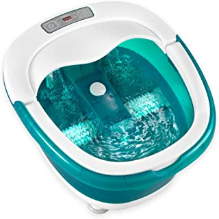 HoMedics, Deep Soak Duo Foot Spa with HeatBoost Power   Deep Rolling Wet/Dry Foot Massager   Dual Motorized Rollers, Waterfall Jets, Built-In Carry Handle, Acu-Node Surface & Optional Heat
