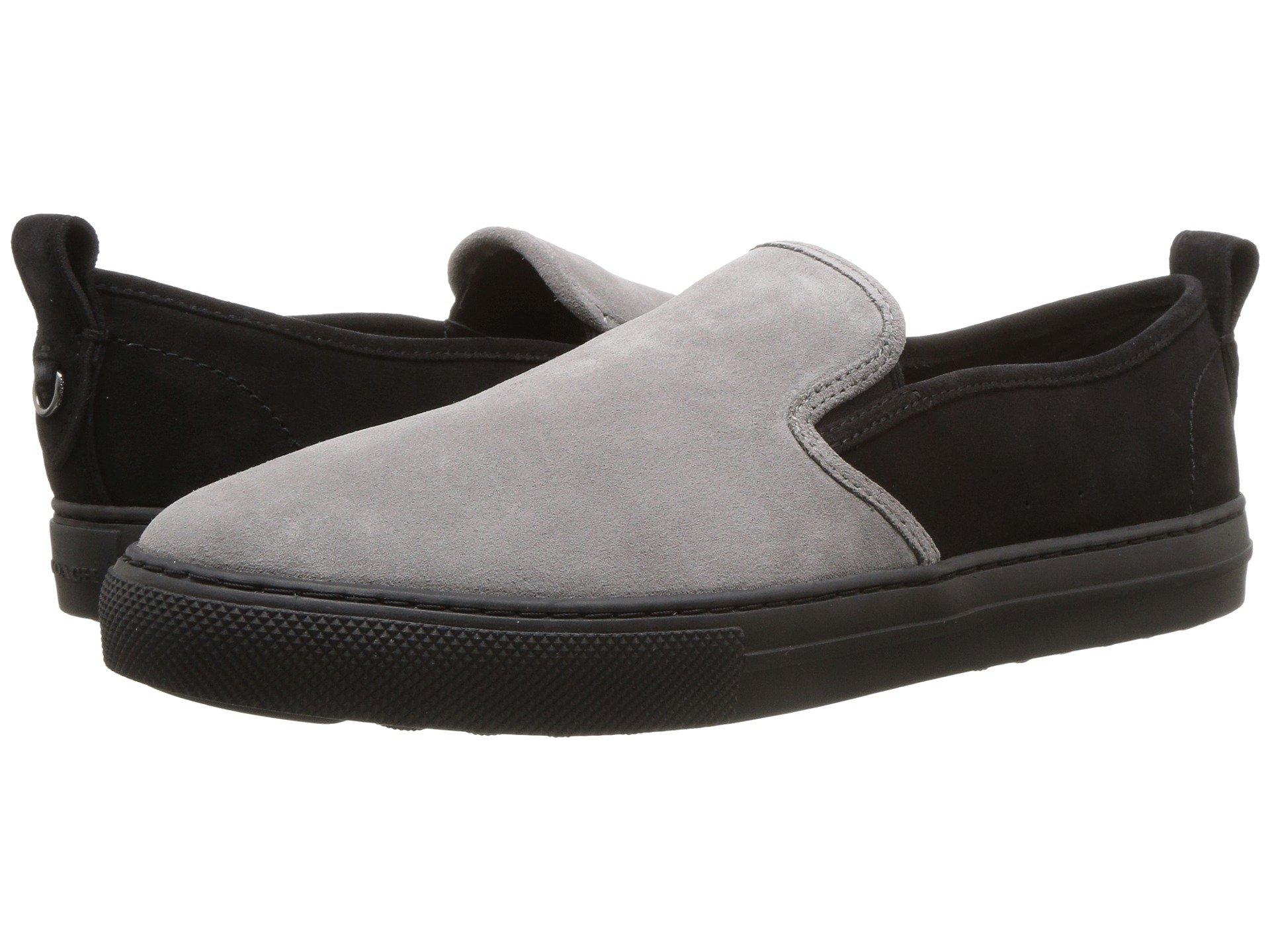 Suede Coach Slip Black C115 Graphite on Sneaker BT7ZPFqT