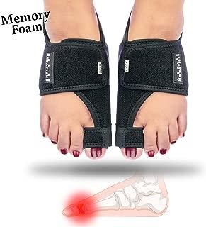Bunion Corrector with Memory Foam Cushion + Gel Bunion Guards | Adjustable Orthopedic Bunion Splint Brace, Big Toe Straightener & Separator, Hallux Valgus Pain Relief for Women & Men