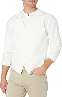 Cubavera mens Easy Care Linen-blend Vest