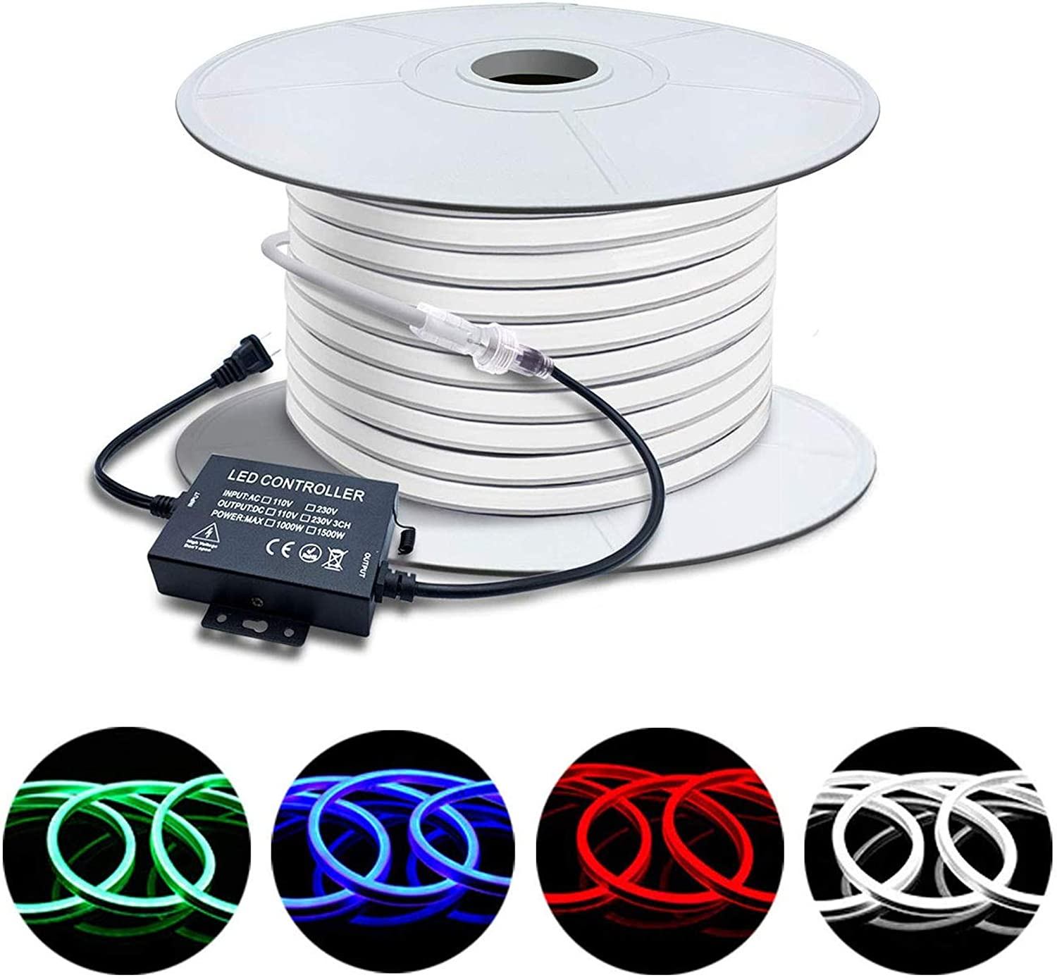 Safety and trust Brillihood 50ft 15m LED Large special price !! RGB Neon Rope Light 120V 150ft Max Li