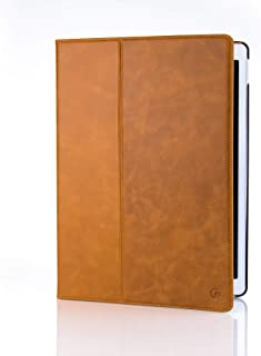 Casemade Apple iPad Pro 12.9 (2nd Gen 2017 Model) Premium Grade Luxury Real Italian Leather Cover/Case (Compatible Model Numbers: A1670, A1671) (Tan)