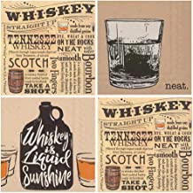 Bourbon Whiskey Cocktail Party Napkins - Total of 80 Paper Beverage Party Napkins