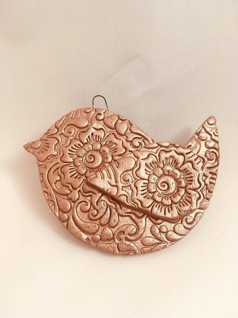 Essential Oil Diffuser Ornament | Rose Gold Bird Ornament | Terracotta DIffuser