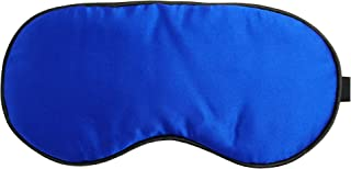 xiaoxi Silk Eye Mask for Children Adult, Super Smooth with Adjustable Strap Used to Sleep Travle Work Blue or Black Color