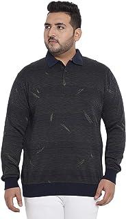 JOHN PRIDE Men's Cotton Olive Plus Size Pullover Sweatshirt